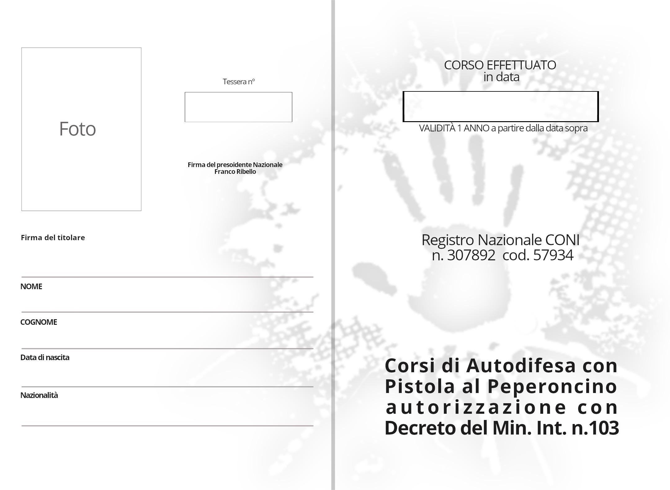 patentino abilitazione all'uso seconda e terza pagina